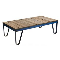 coffee table.  recycled iron.