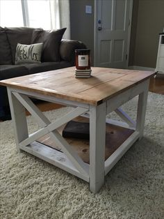 X Frame Coffee Table. Made it for less than $100. Has hidden compartment. #diy #coffeetable