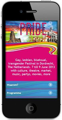 Mobiele website Dordrecht Pride