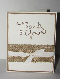 homemade card with burlap - Google Search