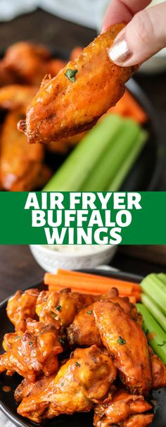 Air Fryer Buffalo Wings are the sauciest and easiest wings ever! Done in less than 20 minutes, you'll never make wings any other way! Chicken Wing Seasoning, Baked Buffalo Wings, Best Comfort Food, Comfort Foods, Homemade Buffalo Sauce, Bagel Bites, Buffalo Cauliflower Bites, Crispy Chicken Wings, Salads To Go
