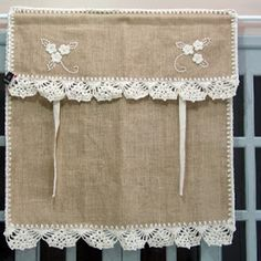 Burlap Curtaines Valance. Country kitchen curtains. Rustic kitchen curtains. Farmhouse kitchen curtains #Countrykitchencurtains #Rustickitchencurtains #Farmhousekitchencurtains #burlapcurtaines #Burlapkitchencurtains No Sew Curtains, Drop Cloth Curtains, Crochet Curtains, Burlap Curtains, Rod Pocket Curtains, Curtains With Blinds, Burlap Projects, Burlap Crafts, Rideaux Country