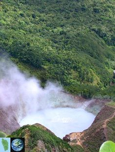 Boiling Lake, Morne Trois Pitons National Park @ Dominica, Nature Island of the Caribbean.