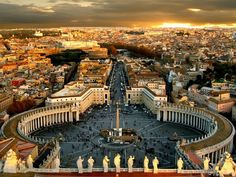 Vatican City. I WILL make it here before I die... Hopefully while I'm still young enough to explore.