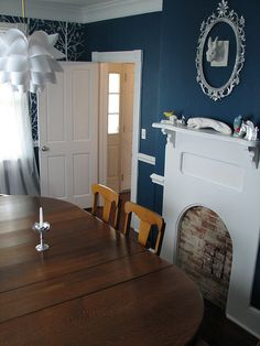 dining room painted above and below chair rail