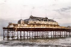 Brighton's West Pier before fire (1992)