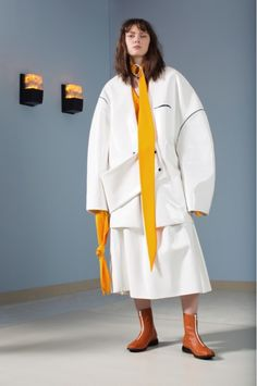 Andrea Jiapei Li's cocooned sculptural feminity with pops of sunshine optimism  || Saved by Gabby Fincham ||