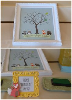 Baby Shower Guest Book Alternative - Thumbprints!   New version now available as an instant download on Etsy