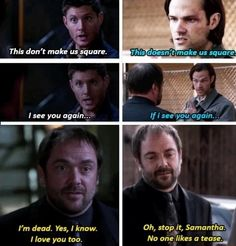 I love the Crowley/Winchester Bros relationship so much. Just...every step of the way.