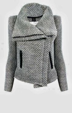 Warm and stylish grey jacket for fall, follow the pic for more amazing styles
