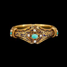 Oh my   So beautiful  An antique gold bangle, Stockholm 1843.