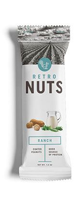 test monki, retro nuts, packaging design, food packaging design, branding, brand identity, graphic design, nuts packaging, ranch