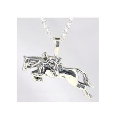 "Kabana Jewelry's evocative ""Jumping Horse"" Sterling Silver Pendant Necklace makes a wonderful and unique gift for any rider or lover of one of mankind's oldest animal friends. Equestrian Jewelry, Horse Jewelry, Cowgirl Jewelry, Western Jewelry, Equestrian Shop, Geek Jewelry, Jewlery, Silver Necklaces, Sterling Silver Jewelry"
