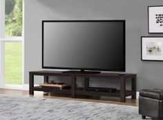 TV Stand 65 Inch Flat Screen Entertainment Media Home Center Console Table Mount #Mainstays #Modern