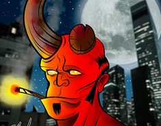 """Check out new work on my @Behance portfolio: """"HELLBOY"""" http://be.net/gallery/66923671/HELLBOY"""