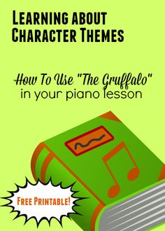 template idea for how to make a connection between story book characters and musical expression/technique