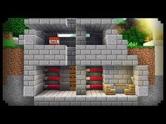✔ Minecraft: How to make a War Bunker - YouTube