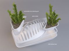 "Dish Rack Planter ""Fluidity"" by DesignLibero"