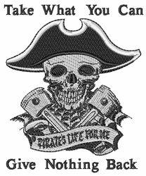 Pirate Gear Head embroidery design