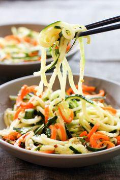 Asian Cucumber and Carrot Salad - Salads - Cucumber Carrot Salad, Carrot Slaw, Carrot Salad Recipes, Cucumber Recipes, Slaw Recipes, Healthy Salad Recipes, Vegetarian Recipes, Healthy Food, Healthy Eating