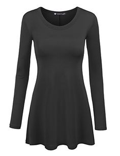 bfc011d030 LL Womens Long Sleeve Scoop Neck Trapeze Tunic - Made in USA at Amazon  Women's Clothing store: