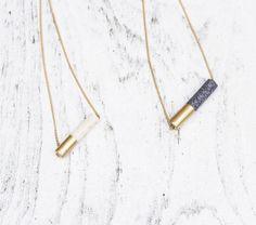 diy necklace idea   granite