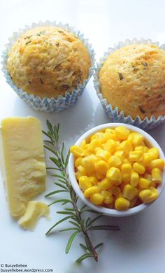 Elle's Cheddar and Rosemary Cornbread Muffins - recipe http ...