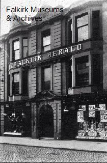 Falkirk Herald - original office and entrance to the distribution/print works via the lane.