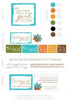 Limefish Studio: The Artsy Girl Studio | Custom Logo Design + Branding | Artist Logo