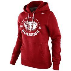 Nike Alabama Crimson Tide Womens School Stamp Pullover Hoodie - Crimson