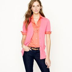 Featherweight cashmere short-sleeve cardigan