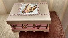 Caixa de MDF de borboletas