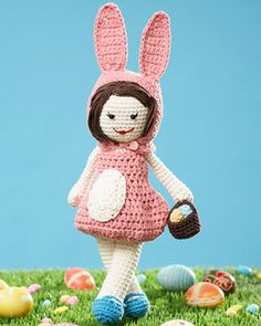 Lily Sugar'n Cream - Easter Lily Doll (free crochet pattern)