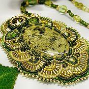 Купить Свадебные серьги с кристаллами Сваровски (swarovski), серьги из бисера - золотой, серьги, свадебные серьги