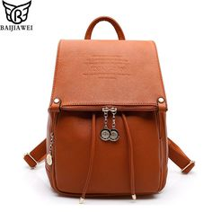 2016 Fashion Design PU Leather Women Backpack Casual Bags School On For Teens…