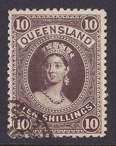 Queensland 1883 dark green Chalon Head, Watermark Crown and Q Twice Sideways,mint [Scott Rare Stamps, Vintage Stamps, Federation Of Australia, Postage Stamp Collection, Postage Stamp Art, Stamp Collecting, Ephemera, Coins, Poster