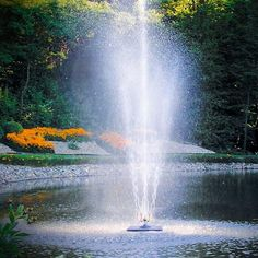 Outdoor Water Fountains, Pond Water Features, Fountain Pumps, Kits and Supplies from Scott Aerator National Electric, Pond Fountains, Pond Water Features, Water Pond, Circular Pattern, Concrete Blocks, Salt And Water, Serenity, Waterfall