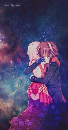 Inori & Shu from Guilty Crown. An amazing anime, I just finished it ^_^