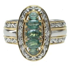 Michael Valitutti Two-tone Color-change Alexandrite and Diamond Accent Ring | Overstock.com Shopping - The Best Deals on Gemstone