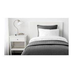 IKEA - ALINA, Colcha e capa de almofada, 180x280/65x65 cm, , Colcha e capas de almofada acolchoadas para uma suavidade extra.A capa da almofada é fácil de retirar com a ajuda do fecho oculto.Fácil de transportar e guardar, pois a sua embalagem é também um saco de arrumação.