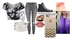 """""""Untitled #86"""" by chloe-775 ❤ liked on Polyvore featuring Topshop, Converse, Casetify, Lime Crime and Charlotte Russe"""