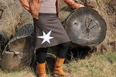 brauner Baumwolle Jeans Rock Stern von MeinekreativeWelt auf Etsy