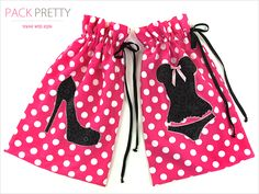 Lingerie Bag & Shoe Bag Travel Set Cute and quick to zip up for the travelers in your life or yourself :)