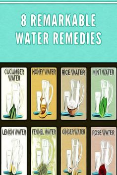 8 Remarkable Water Remedies Health Tips For Women, Health And Fitness Tips, Health And Nutrition, Fitness App, Healthy Detox, Healthy Yogurt, Homemade Syrup, Homemade Playdough, Detox Tips