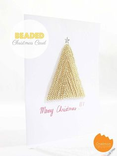 DIY Tutorial DIY CHRISTMAS CARDS / DIY Tutorial: Beaded Christmas Card - Bead&Cord