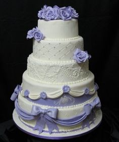 wedding cake purple