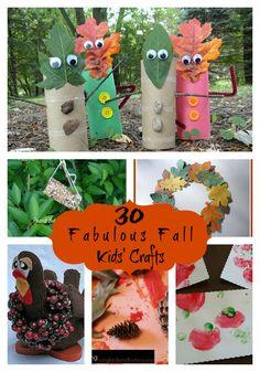 30 Fabulous Fall Kids Crafts