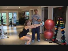 Do You Squat Properly? Learn how to squat with this exercise video.  With correct form your butt and thighs will be tight and toned in no time. Stephen and Sarah demonstrate how to perform a squat.