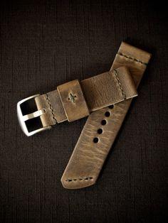"""""""Dresden"""" Brown Handmade Leather Watch Strap"""