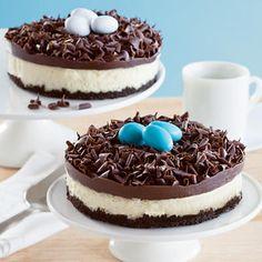 Bird's nest cheesecake